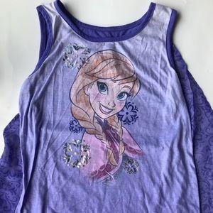 Princess Anna frozen tank top kids girls size XL